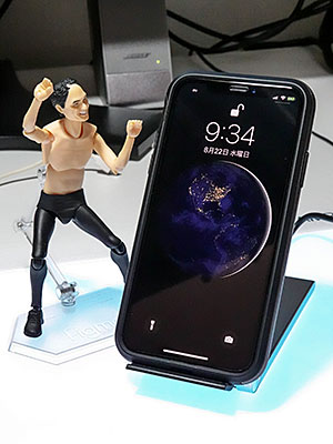 <cheero 2 Coils Wireless Charger Stand>
