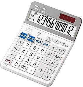 <シャープ 電卓 セミデスクトップタイプ 12桁表示 チルト機能付き EL-SA72-X>