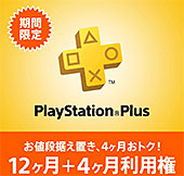 <PlayStation Plus 12ヶ月利用権>