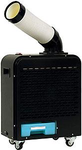 <広電 スポットクーラー 小型 ブラック 板金ボディ 持ち運び簡単 防塵スイッチ 前面エアフィルタ付 KES181SMAB>