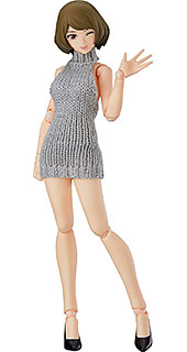 <figma figma Styles 女性body[チアキ] with バックレスセーターコーデ ノンスケール ABS&PVC製 塗装済み可動フィギュア>