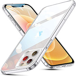 <ESR iPhone 12 pro max ケース 6.7インチ 2020 新型 クリアケース 背面硬度9H加工+TPUバンパー 薄型 透明 黄変防止 衝撃吸収 Qi充電対応>