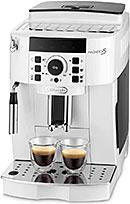 <【エントリーモデル】デロンギ(DeLonghi) 全自動コーヒーメーカー マグニフィカS ミルク泡立て:手動 ホワイト ECAM22112W>
