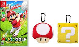 <マリオゴルフ スーパーラッシュ -Switch +マリオアイテムぬいぐるみポーチセット(スーパーキノコ・ハテナブロック) (【Amazon.co.jp限定】アイテム未定 同梱)>