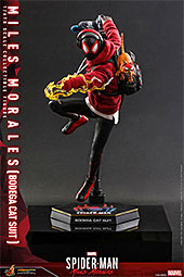 <ビデオゲーム・マスターピース『Marvel's Spider-Man:Miles Morales』1/6 スケールフィギュア マイルス・モラレス/スパイダーマン(売店の看板猫スーツ版) ※延期・前倒し可能性大[ホットトイズ] >