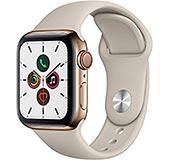 <Apple Watch Series 5(GPS + Cellularモデル)- 40mmゴールドステンレススチールケースとストーンスポーツバンド - S/M & M/L>