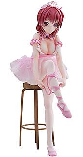 <Anmiイラスト『フラミンゴバレエ団』赤髪の子 ノンスケール PVC&ABS製 塗装済み 完成品フィギュア>